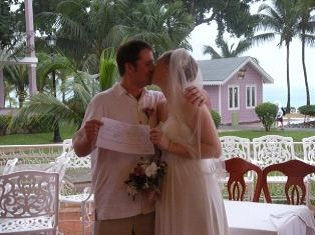 Randy Brodzeller and Angie Pace at their Wedding at the Riu Palace Tropical bay in Negril Jamaica!